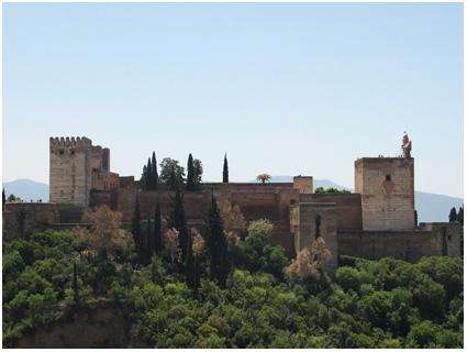 uitzicht op het alhambra
