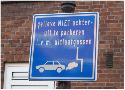 niet achteruit inparkeren