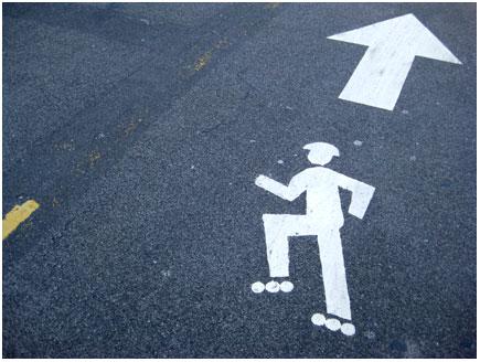 het skatepad en fietspad