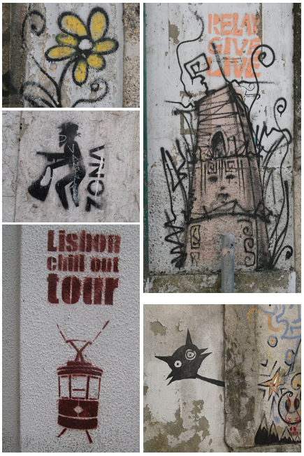 Collage street art in Portugal