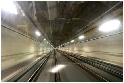 In de tunnel naar IJburg