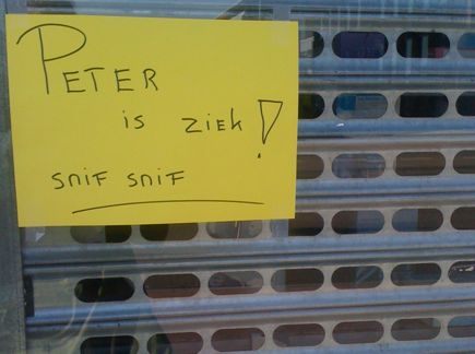peter is ziek!